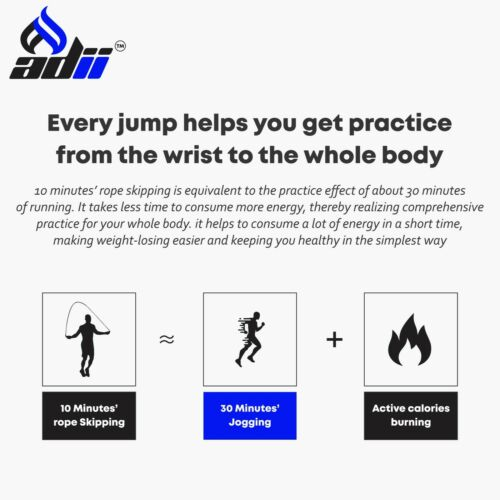 ADii™ Jump Rope Speed Skipping Crossfit Workout Gym Aerobic Exercise Boxing MMA