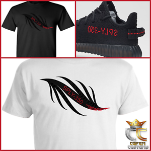 61d2be8dd3f7ef Details about EXCLUSIVE TEE T-SHIRT 1 to match ADIDAS YEEZY BOOST 350 V2  BRED   PIRATE BLACK!