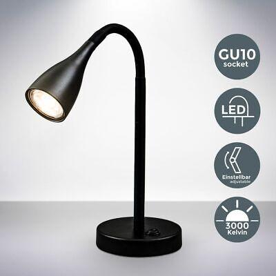 Brilliant LED Tischlampe Schreibtisch Büro RICK 5W 330lm Leselampe weiß USB