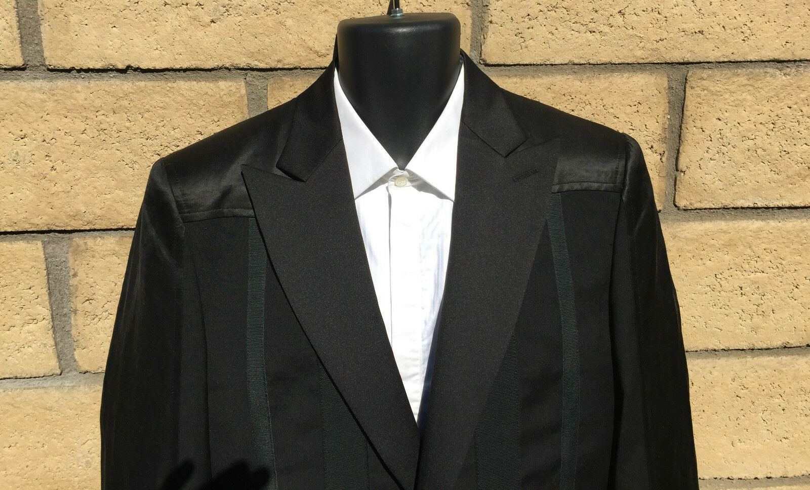 Costume National Tuxedo w/ Satin Half Sleeve, Lapel & Shoulder  NWT 1020.00