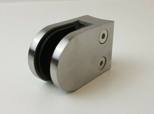 Brushed Stainless Steel Curved Glass Clamp For 42mm Tube