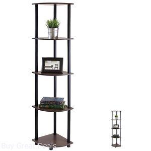 Image Is Loading 5 Tier Corner Shelf Living Room Bedroom Organizer