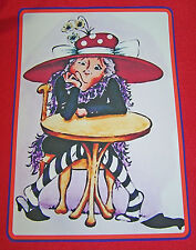 LARGE RED CANVAS TOTE BAG W// RED HAT LADY FOR RED HAT LADIES OF SOCIETY