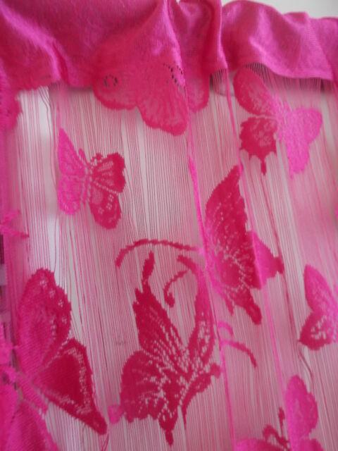 Butterfly String Tassel Panel Curtain Room Divider Window 1m x 2m Hot Pink Girls