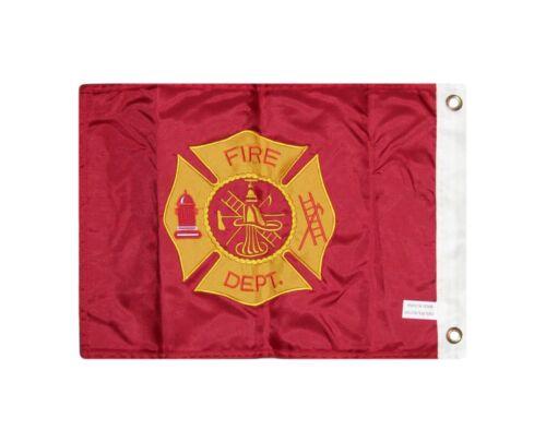 12x18 Bestickt Feuerwehr Doppelseitig 2ply 300D Nylon 30.5cmx45.7cm Starkes
