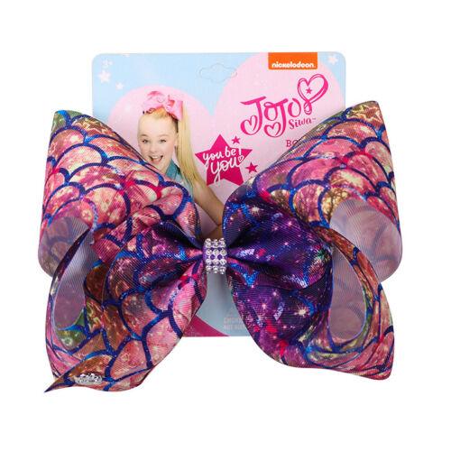 8 inch JoJo Siwa Hair Bow Mermaid Hair Clip Galaxy Bowknot Valentines Day Gifts