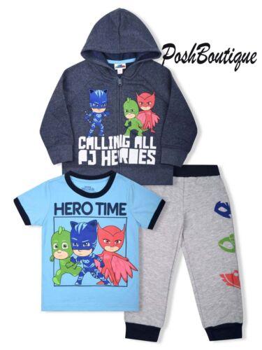 NWT PJ Masks Catboy Gekko Boy Hoodie Shirt Pants Clothing Set Outfit 3T 4T 5T