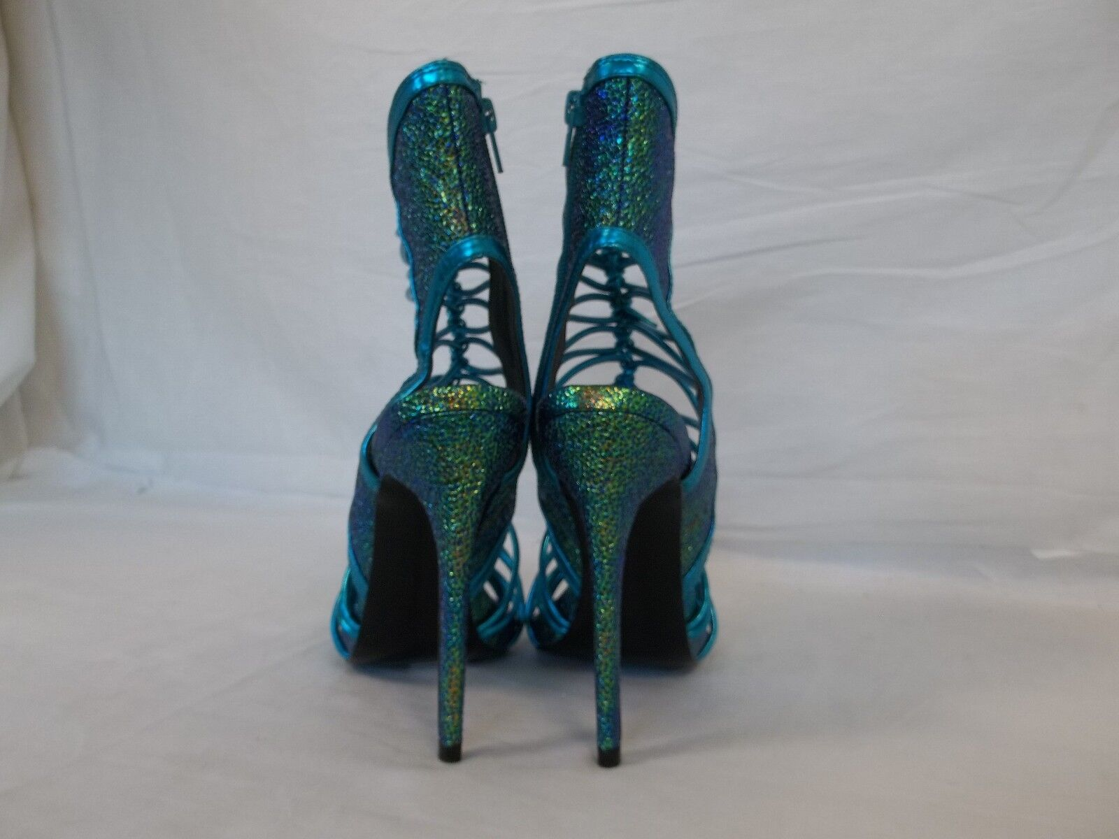 Keyshia Cole Steve Madden 8 M Movit Teal Donna Open Toe Heels New Donna Teal Shoes NWOB d6c5e1