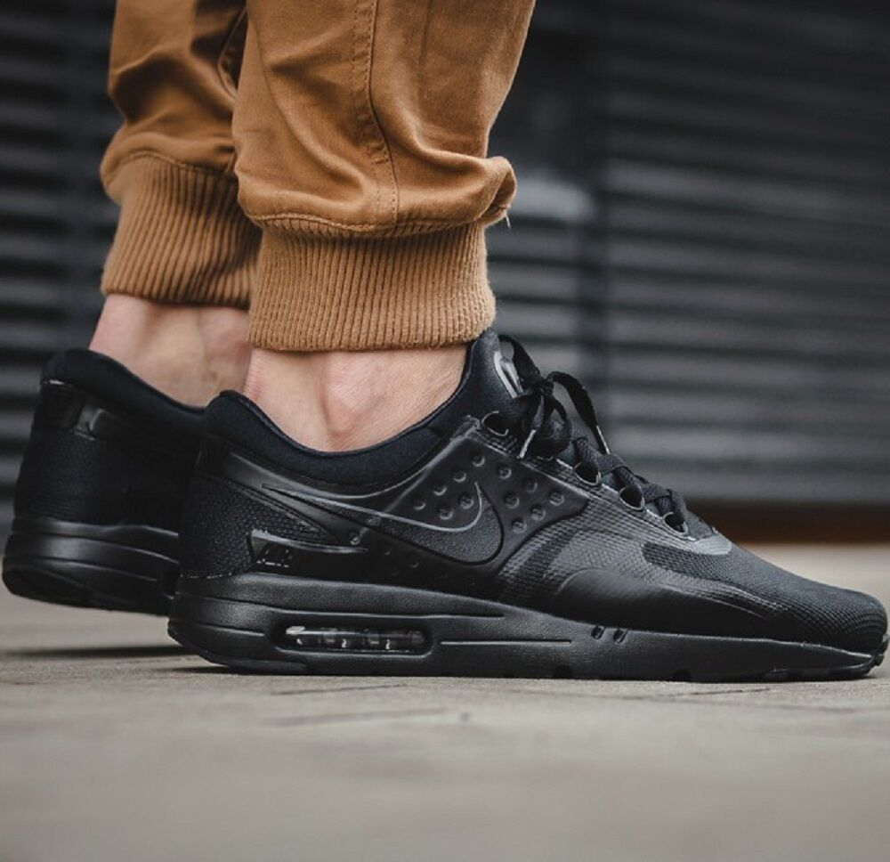 NIKE AIR MAX ZERO ESSENTIAL Black MEN'S SHOES LIFESTYLE COMFY SNEAKER 876070-006 Casual wild