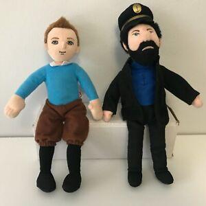 TY Beanie The Adventures of TinTin Tin Tin & Captain Haddock Plush Soft Toy 2011