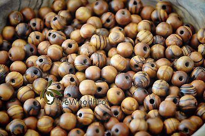 1440 olive wood bead 8mm ROUND beads olivewood POLISHED HOLY LAND BETHLEHEM