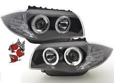 ANGEL EYES SCHEINWERFER BMW E81 E87 04-11 1er BLACK LED STANDLICHT-RINGE SATZ