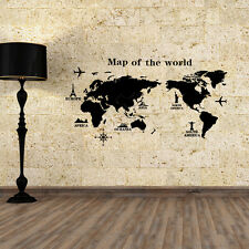 DIY World Map Vinyl Art Room Wall Sticker Decal Mural Home Decor Removable