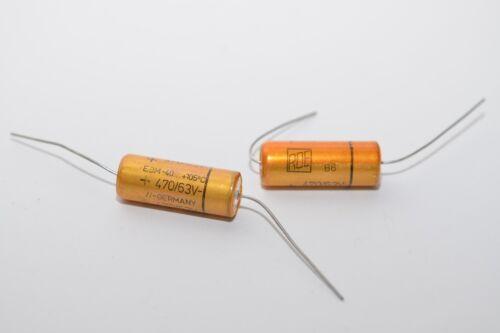 63 V Audio Gold Capacitor 2x Elko-Kondensator von ROE Serie EBM NOS 470 µF