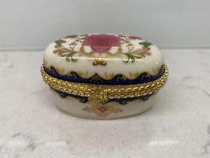 The-Leonardo-Collection-Vintage-Floral-Gold-Ornate-Porcelain-Oval-Trinket-Hinge