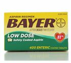 Bayer Low Dose Aspirin Regimen 400 Tablets 81mg Worldwide
