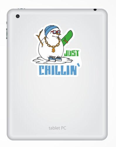 2 x Snowboard Snowman Sticker Car Bike iPad Laptop Decal Gift Cool Kids #4127