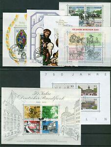 Berlin-Block-2-3-4-5-6-7-8-alle-sauber-gestempelt-ESST-Sammlung-Collection-used