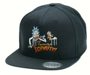 Image Is Loading Funny Rick And Morty Schwifty Snapback Hat Cap