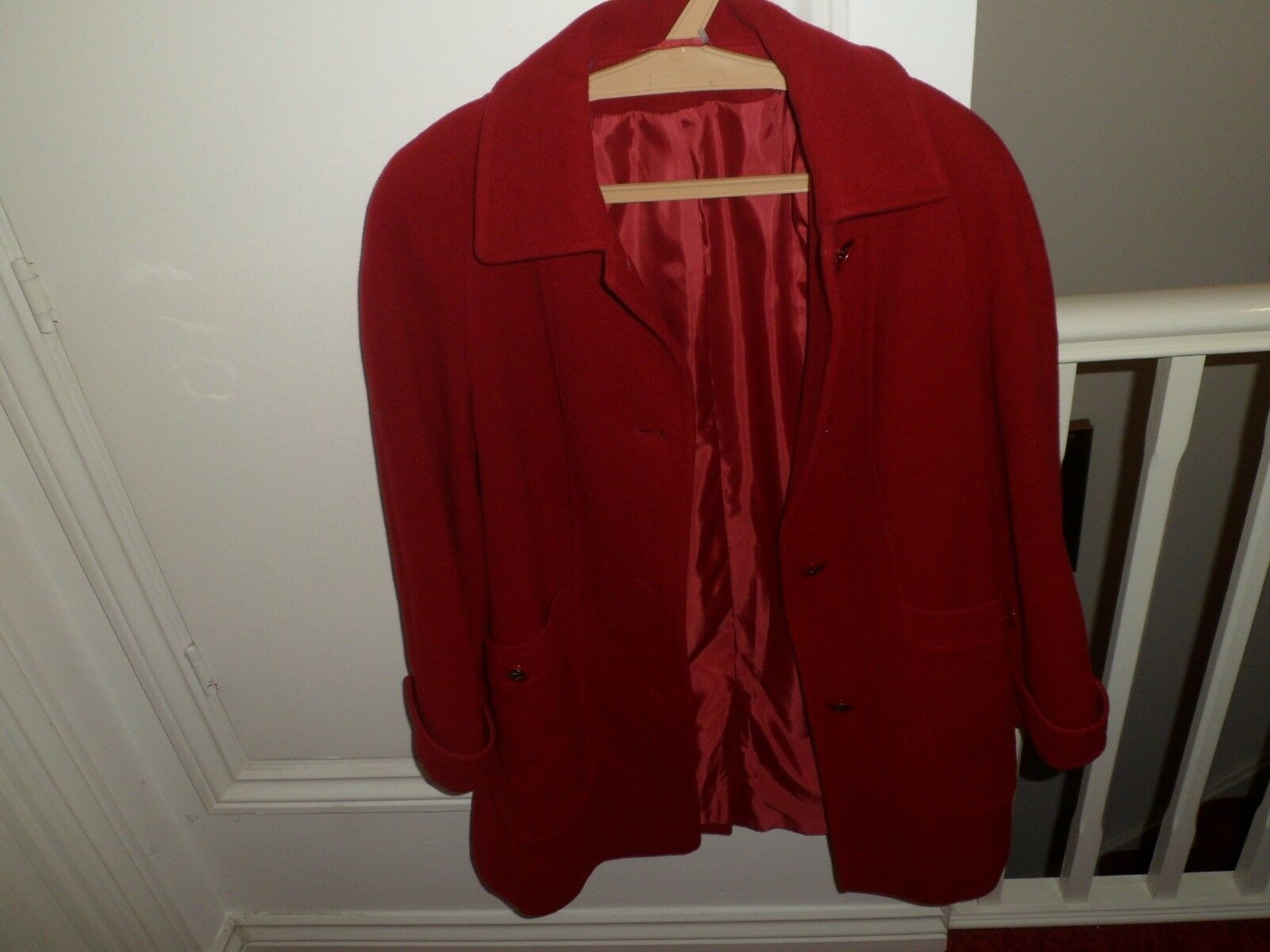 Heavy duty coat, EWM, Pure Classics, 10, WOOLMARK BLEND, Red, P2P 50CM. 80% Wool