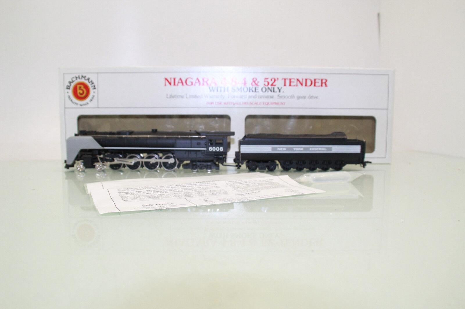 Bachmann traccia h0 US locomotiva Niagara 4-8-4 4-8-4 4-8-4 & 52' tender con il fumo in scatola originale (nl2692) dab936