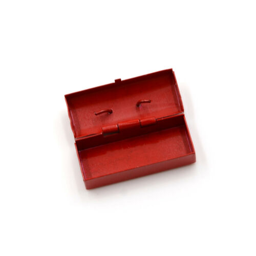 Rot Blau 1:12 Puppenhaus Miniatur Mini Metall Werkzeugkasten^
