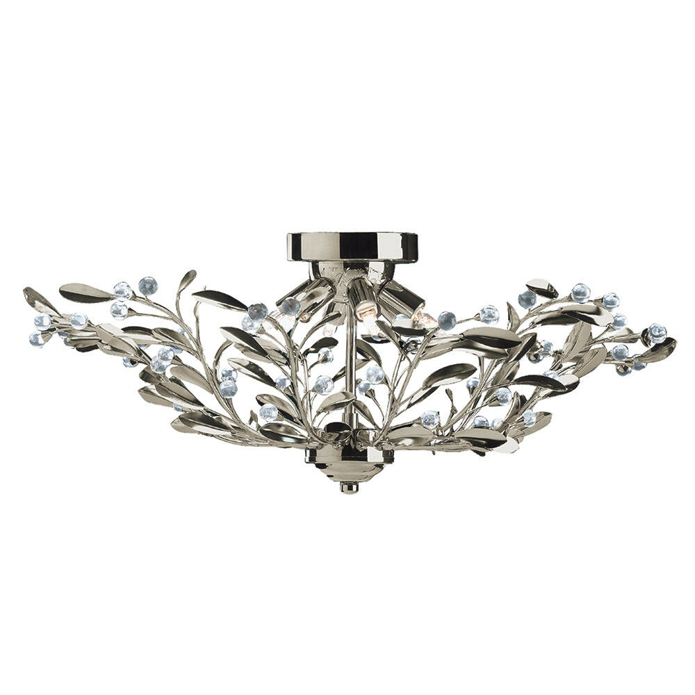 light 16 16 16 lampes laiton FLORAL verre semi-encastré plafonnier lustre | Nombreux Dans La Variété  7b9b57