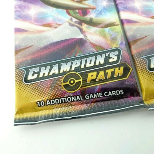 Lot of Pokemon TCG Champion/'s Path Booster Packs 10 NEW//SEALED UNWEIGHED