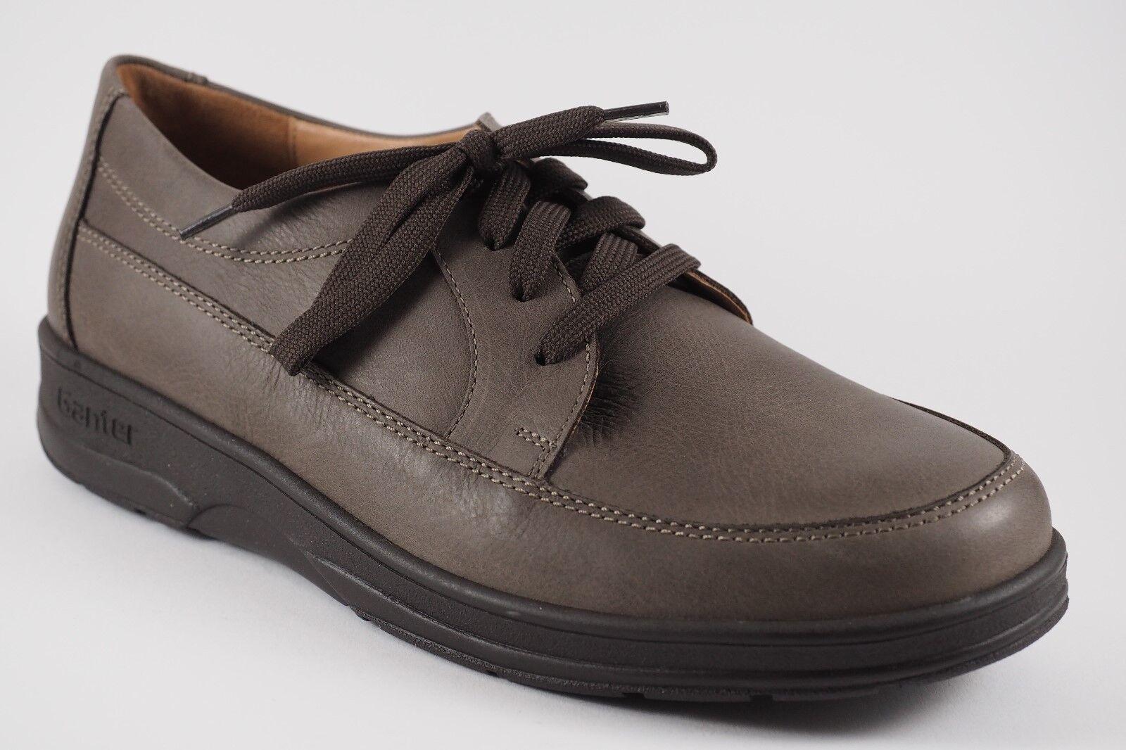 Ganter men Lacci da shoes 7,5 H 41 1 2 Basse pelle brown grey Inserto