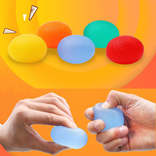 Silicone egg hand exercise 5 strength widerstand finger injury stressPLF