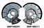 2x-Paire-MG-ZT-amp-Rover-75-Frein-Arriere-Plaque-Arriere-Neuf miniature 1