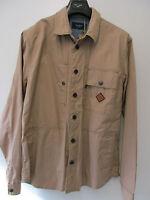 Paul Smith jeans Collection 100% Cotton Beige Shirt Jacket Size Xl Pit Pit 23