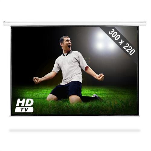 [B-WARE] HDTV ROLLO BEAMER LEINWAND 300x220CM (150) 4:3/16:9 HEIM KINO HD BEAME
