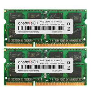 8GB-KIT-2x4GB-DDR3-PC3-10600-SODIMM-1333-MHz-Laptop-Notebook-Memory-Dell-IBM-HP