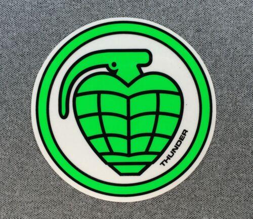 Thunder Trucks Circle Grenade Skateboard Sticker 4in green//white si