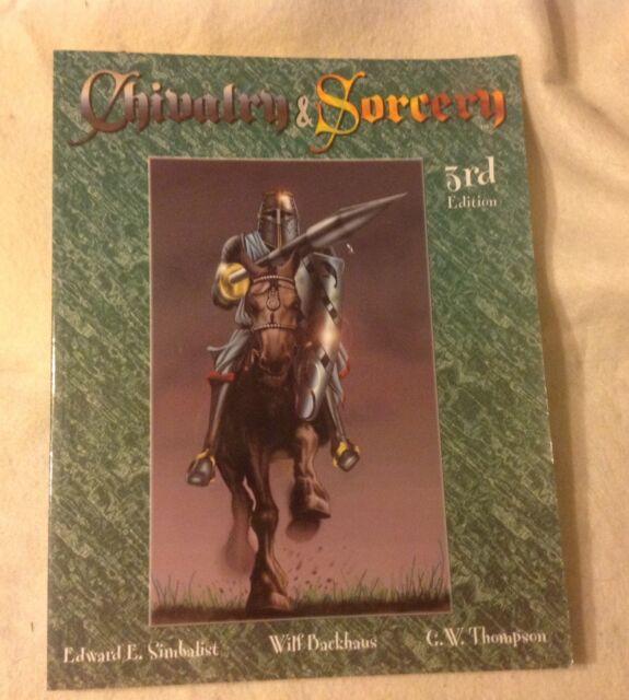 Chivalry & Sorcery 3rd Edition (Highlander Designs 1996) Complete fantasy RPG