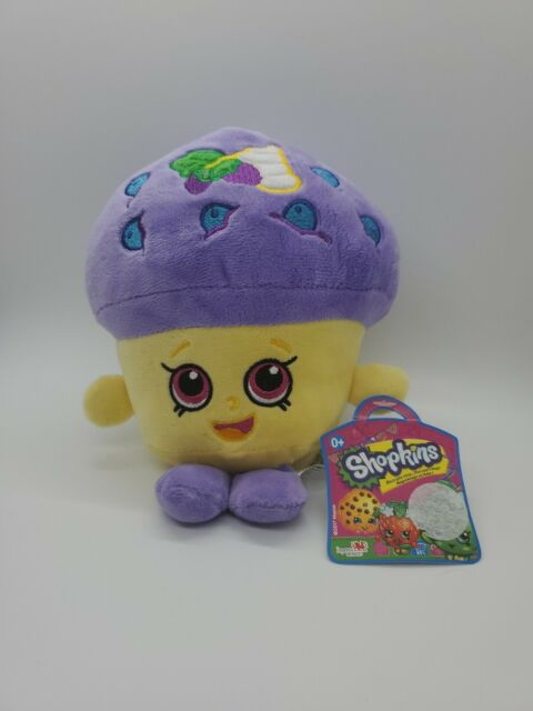 Shopkins Cupcake Plush Toy Stuffed Animal Purple 8 Inch -3223