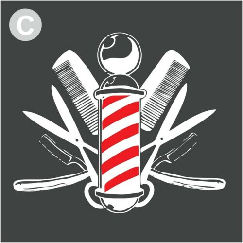 Barber Window Stickers Shop Sign Decal Salon Traditional Modern Stiker Style