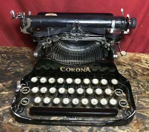 Vintage 1923 Corona 3 Folding Portable Typewriter With Case