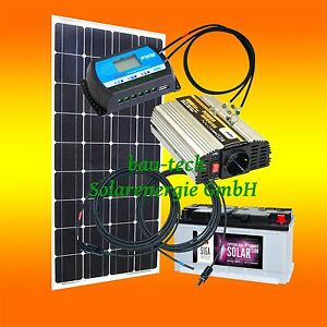 100watt garten camping solaranlage 12 volt set. Black Bedroom Furniture Sets. Home Design Ideas