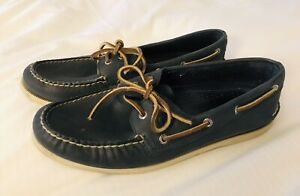 SPERRY-TOP-SIDER-Authentic-Original-Leather-Boat-Shoe-Mens-11-5-BLUE-C15