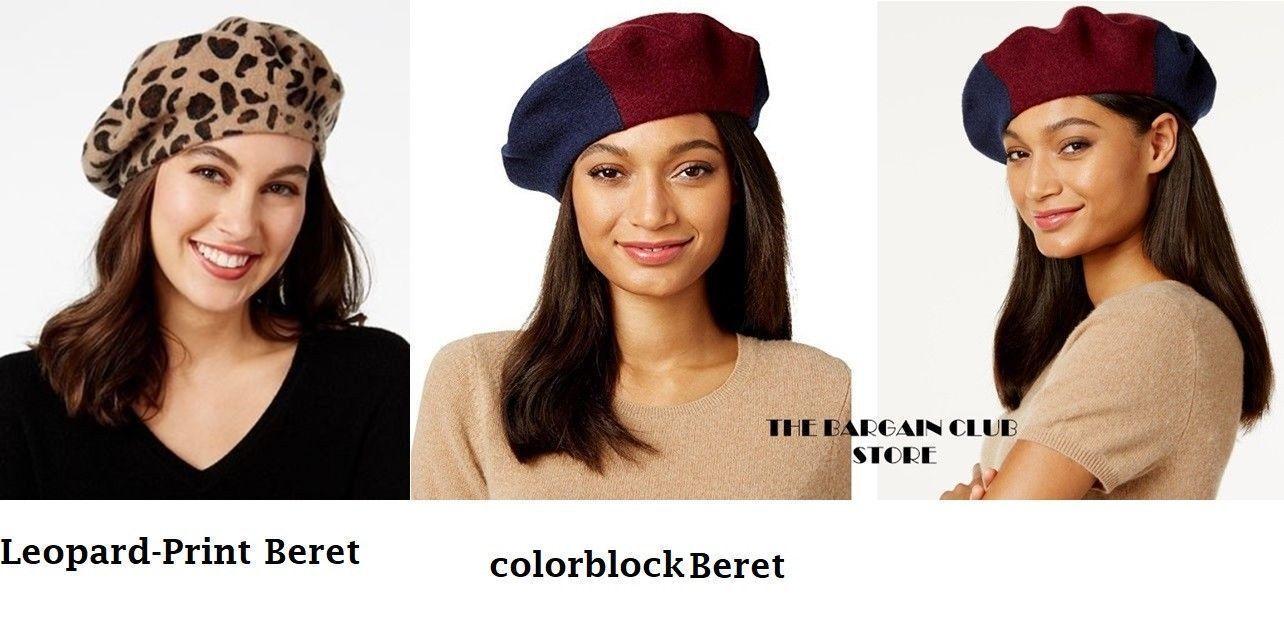 Inc International Concepts Womens Hats Leopard-print Beret Hat One ... bb4f62272e85