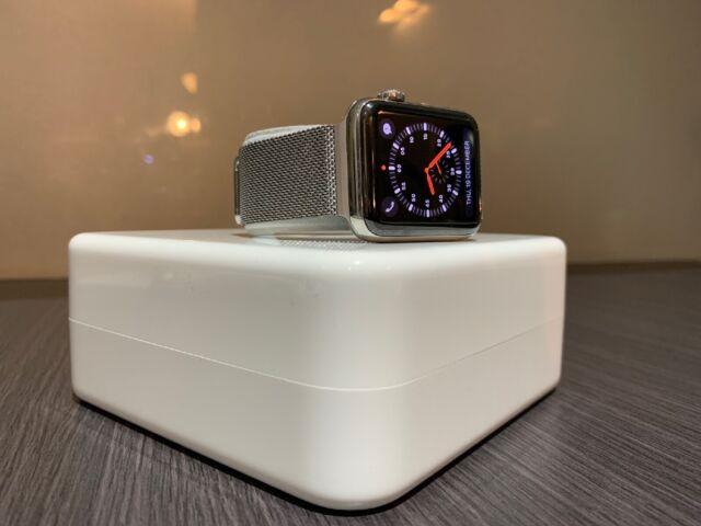 Apple Watch Series 3 42mm Stainless Steel & Milanese Loop (GPS + Cellular),