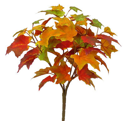 Darice Fall Floral Maple Leaf Pick with Acorns and  Berries Fall Colors