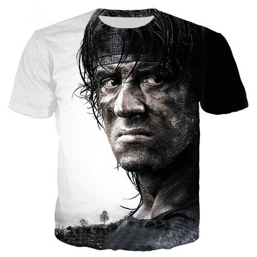 Rambo Movie  Last Blood Casual Women Men T-Shirt 3D Print Short Sleeve Tee Tops
