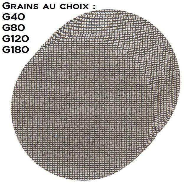 10 disques abrasifs 225 mm treillis de ponçage pour placo girafe plâtre