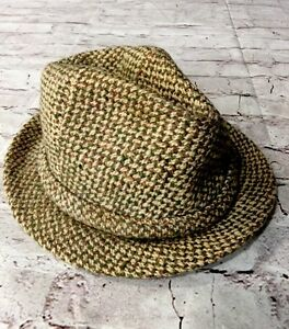 Image is loading Bates-Hatter-Of-London-Vintage-Tweed-Fedora-Hat- 8a8632a597e