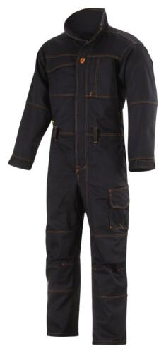 Snickers 6057 Black Flame Retardant Workwear Welding Overall