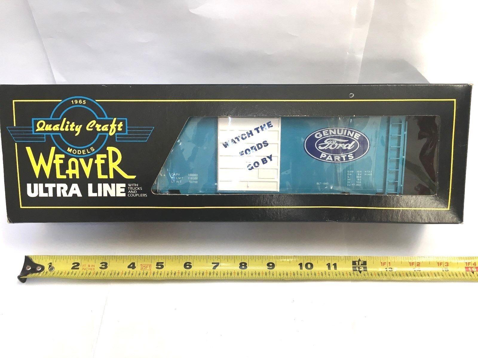 WEAVER ULTRA LINE RAILERS GENUINE FORD PARTS blu SIDE BOX CAR