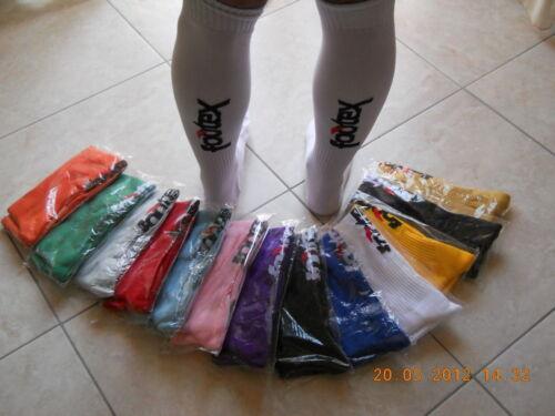 10 Calzettoni Calze Calcio Calcetto FOOTEX 14 colori disponibili misure uomo
